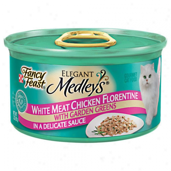 Fancy Feast Elegant Medley Chicken Case Florentine Cat Food (case Of 24)