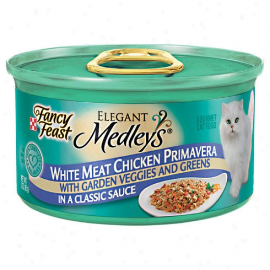 Fancy Feast Elegant Medley Chicken Prrimavera Cat Food (case Of 24)