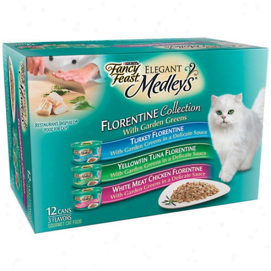 Fancy Feast Elegant Medley Florentine Variety Pzck Canned Cat Food (case Of 2)
