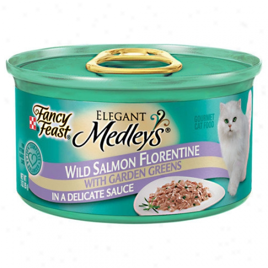 Fancy Feast Elegant Medley Salmon Primavera Cat Food (case Of 24)