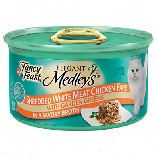 Fancy Delight Elegant Medley Shredded Chicken Cat Food (case Of 24)