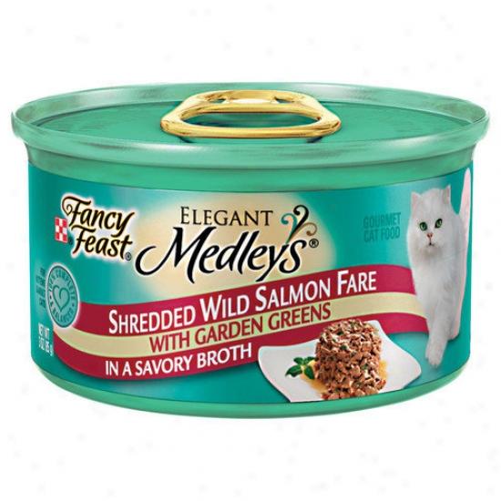 Fancy Feast Polished Medley Shredded Salmon Cat Food (case Of 24)