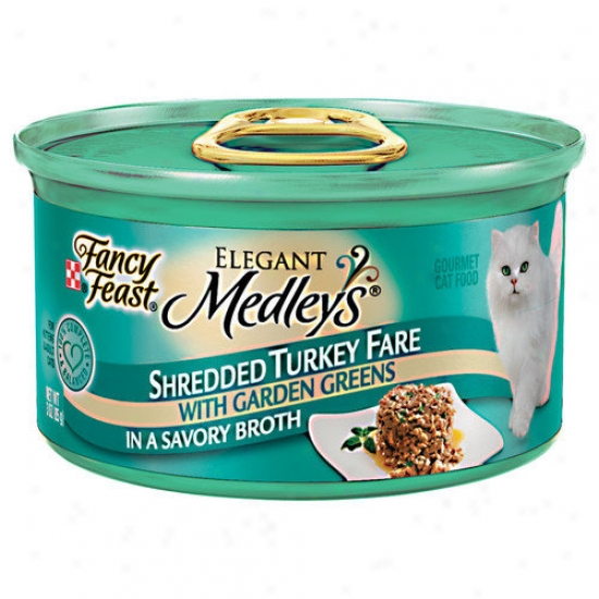 Fancy Feast Elegant Medldy Shredded Turkey Fare Cat Food (case Of 24)