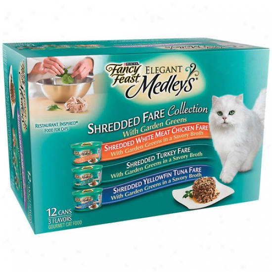 Fancy Feast Elegant Medlet Shredded Variety Cat Food (case Of 2)