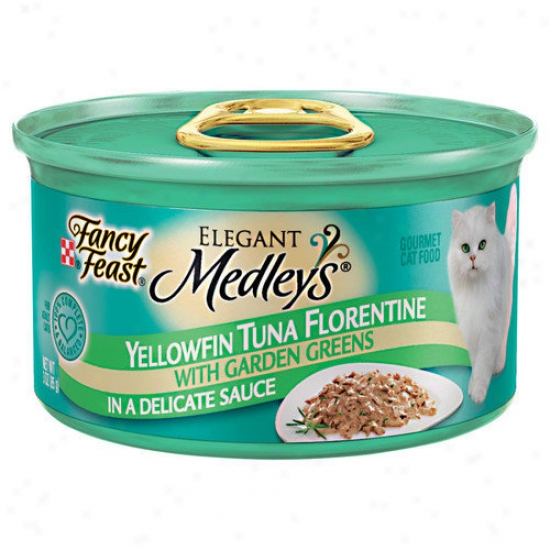 Fancy Feast Elegant Medley Tuna Florentine Cat Food (case Of 24)