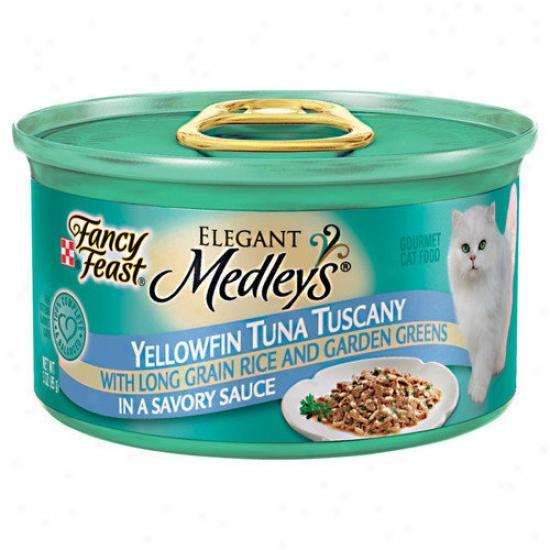 Fancy Feast Elegant Medley Tuna Tuscany Cat Food (case Of 24)
