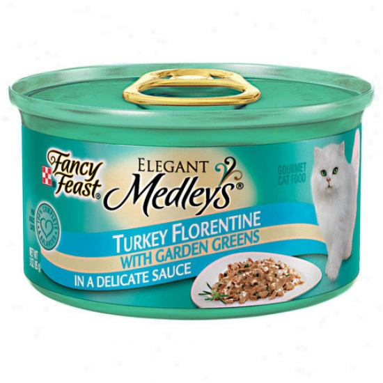 Fancy Feast Graceful Medley Turkey Florentine Cat Food (case Of 24)
