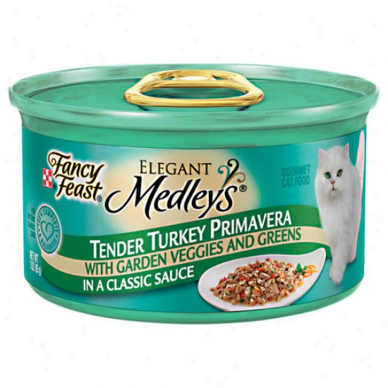 Fancy Feast Elegant Medley Turkey Primavera Cat Food (case Of 24)
