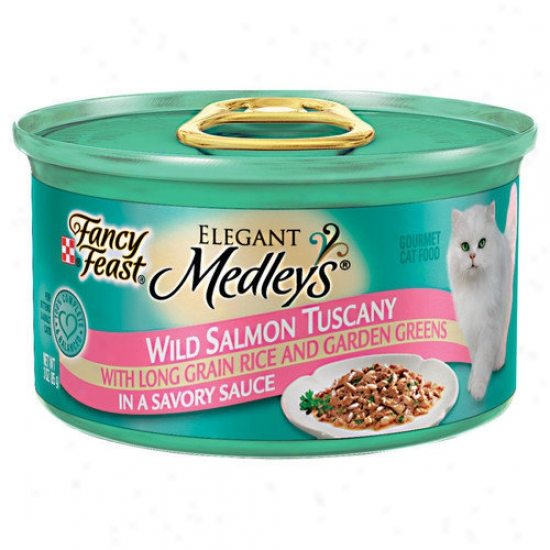 Fancy Feast Elegant Medley Impetuous Salmon Tuscany Cat Food (case Of 24)