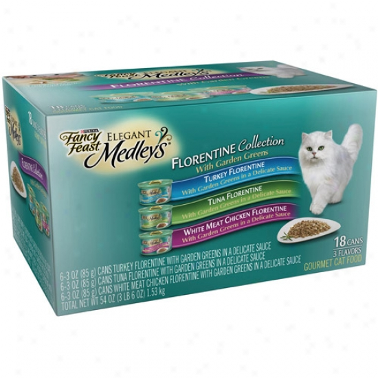 Fancy Feast Elegant Medley's Florentine Collection 18-pack Canned Cat Food, 3 Oz