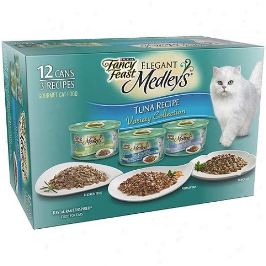 Fancy Feast Elegant Medleys Tuna Cat Food Variety Pack, 3 Oz, 12 Count