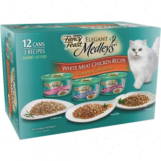 Imaginative Feast Elegant Medleys White Meat Chicken Recipes Cat Food Varoety Compress, 3 Oz, 12 Count