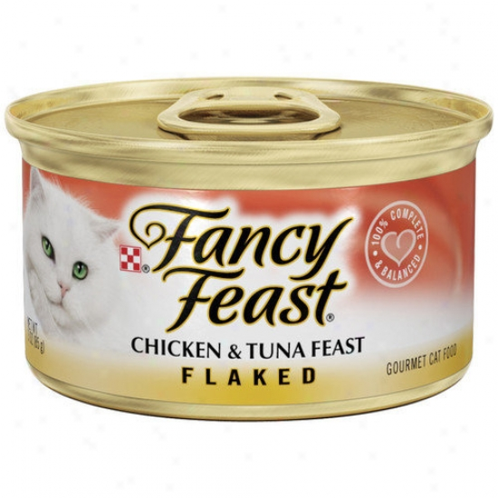 Fanciful Feast Flaked Chicken And Tuna Wet Cat Food (3-oz Can,case Of 24)