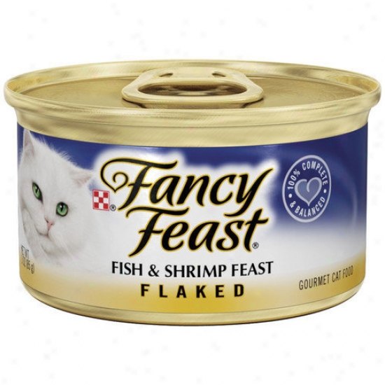 Fancy Feast Flaked Fish And Shrimp Wet Cat Fooe (3-oz Can,case Of 24)