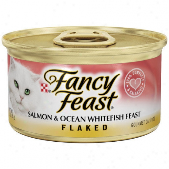 Fancy Eat  Flaked Salmon And Ocean Whitefish Wet Cat Food (3-oz Can,case Of 24)