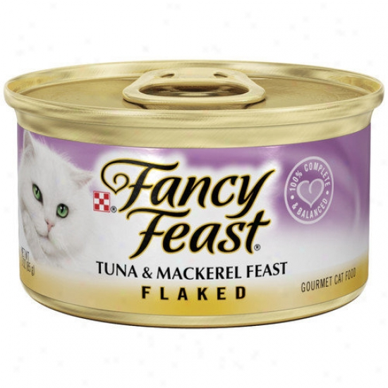 Fancy Feast Flaked Tuna And Mackeral Wet Cat Food (3-oz Can,case Of 24)