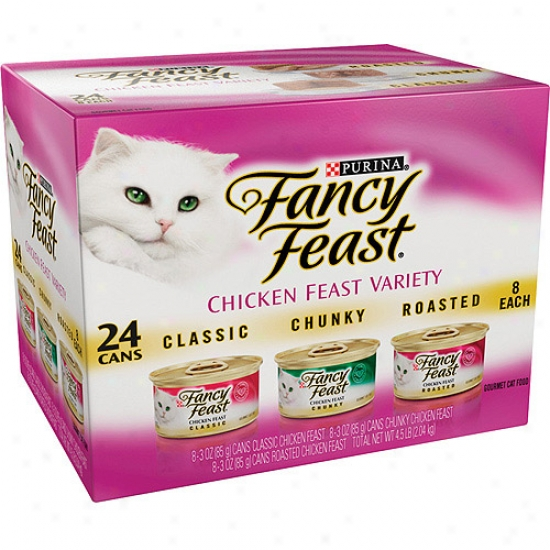Fancy Feast Gourmet Chicken Feast Variety-pack Cat Food, 3 Oz, 24-pack