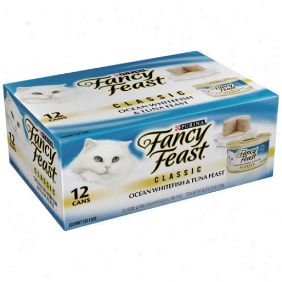 Fancy FeastG ourmet Classic Ocean Wgitefish And Tuna Feast Cat Food, 3 Oz, 12-pack