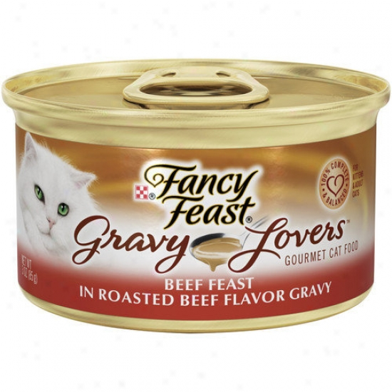 Fancy Feast Gravy Lovers Beef Delight Wet Cat Food (3-oz Can,case Of 24)