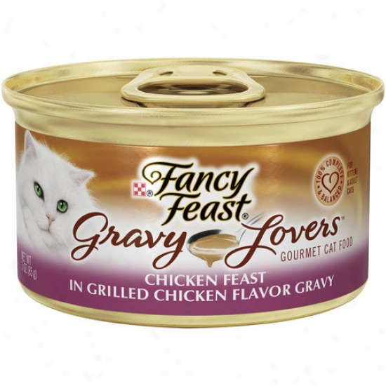 Fancy Feast Gravy Lovers Chicken Cat Wet Cat Food (3-oz Can,case Of 24)