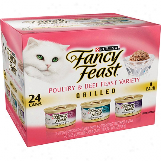 Fancy Frast: Grilled 3-flavor Variety Pack Cat Food, 24 Ct