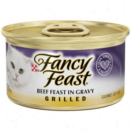 Pleasing conceit Feast Grilled Beef Feast In Gravy Wet Cat Food (3-oz Can,case Of 24)