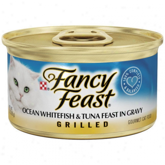 Fancy Feast Grilled Ocean Whitefish Tuna Wet Cat Food (3-oz Can,case Of 24)