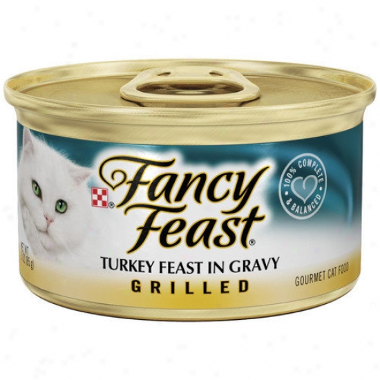 Fancy Feast Grilled Turkey Cat Food Wet Cat Feed (3-oz Can,case Of 24)