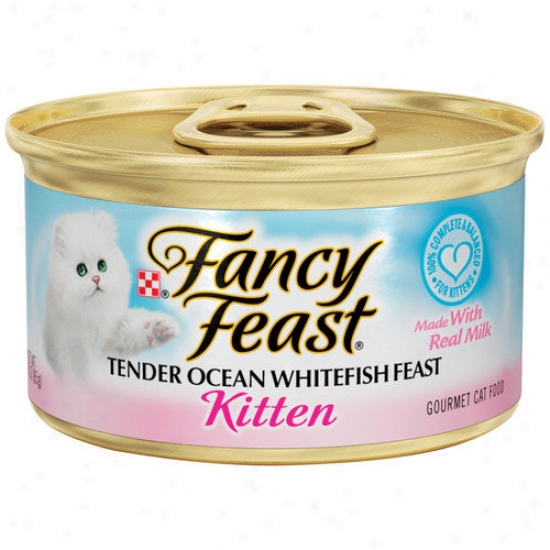 Fancy Feast Kitten Ocean  Whitefisg Moisten Cat Food (3-oz Can,case Of 24)