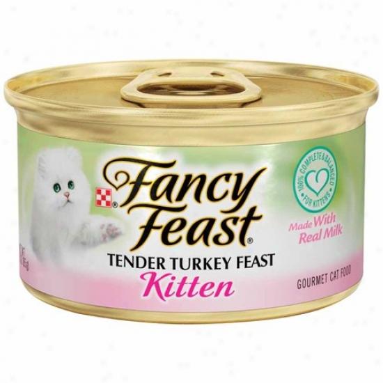 Fancy Delight Kitten Tender Turkey Wet Cat Food (3-oz Can,case Of 24)