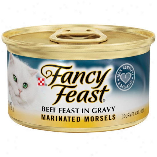 Fancy Feast Marinated Morsels Beef Wdt Cat Food (3-oz Can,case Of 24)