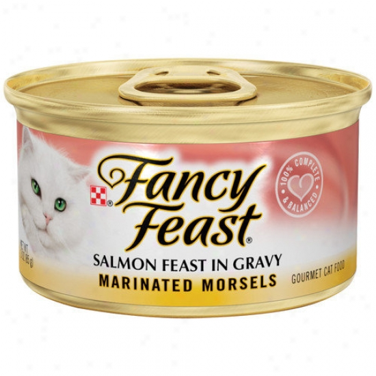 Fanxy Eat  Marinated Morsels Salmon Wet Cat Food (3-oz Can,case Of 24)