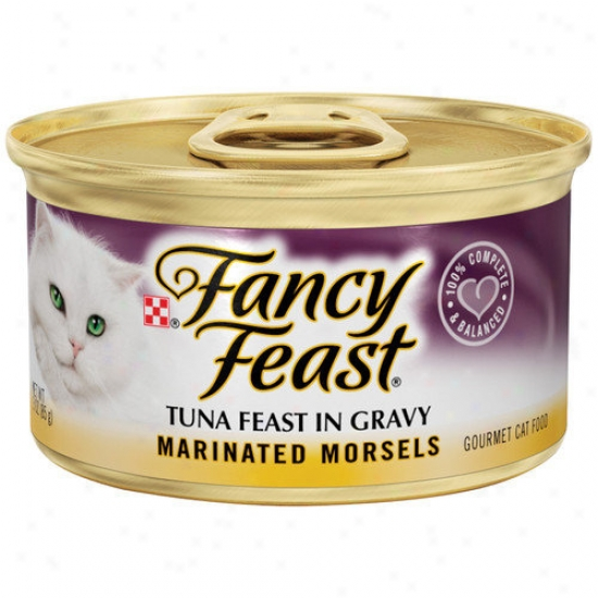 Fancy Feast Marinated Morsels Tuna Wet Cat Food (3-oz Can,case Of 24)