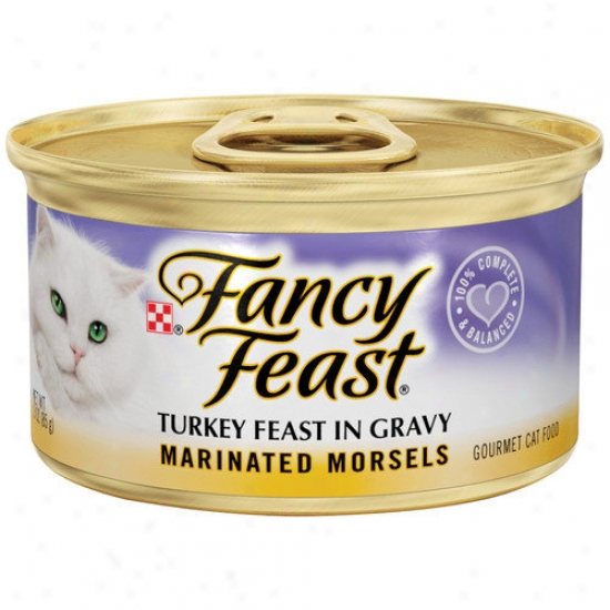 Fancy Feast Marinated Morsels Turkey Wet Cat Food (3-oz Can,case Of 24)