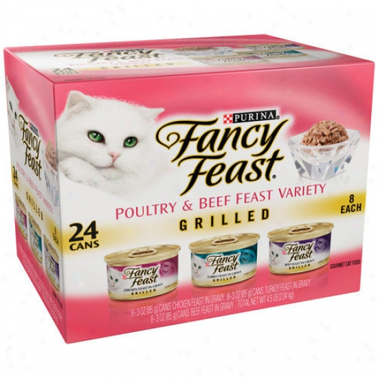 Fancy Feast Poultry And Beef Feast Variety Grilled Wet Cat Food (3-oz Can,case Of 24)