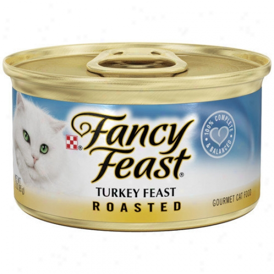 Fancy Feast Roasted Turkey Wet Cat Food (3-oz Can,case Of 24)