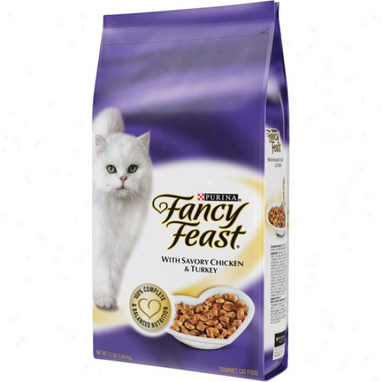 Fancy Feast Savo5y Chicken & Turkey Cat Food, 12 Lb