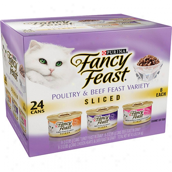 Fancy Feast Sliced 3-flavor Variety Pack Cat Food, 24ct