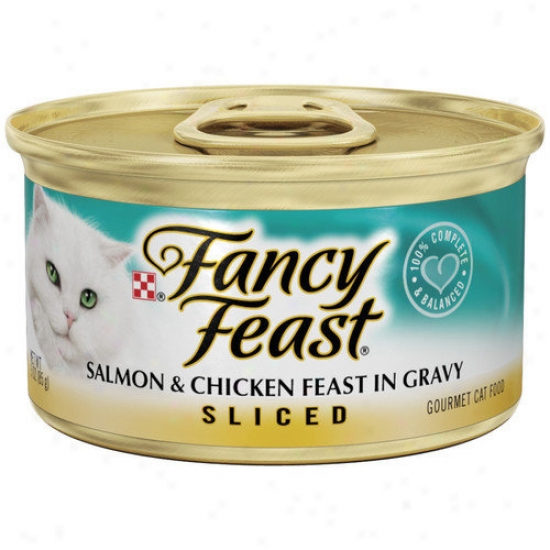 Fancy Eat  Sliced Salmon And Chicken Wet Cat Food (3-oz Can,case Of 24)