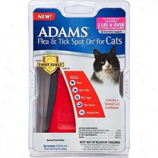 Farnam 100509530 Adams Flea And Tick Spot On For Cats And Kittens