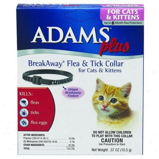Farnam 3006026 Adams Plus Breakaway Flea And Tick Collar For Cat