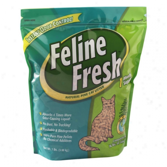 Feline Fresh Natural Pine Cat Litter, 7 Lbs