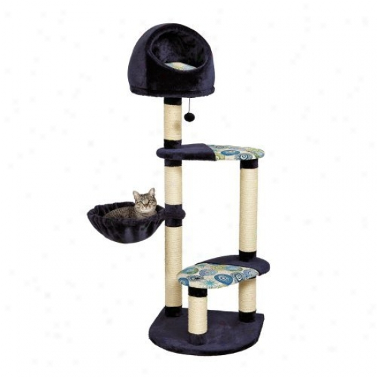 Feline Nuvo Resort Cat Tree With Cucullate Couch And Hammock - 60 In.