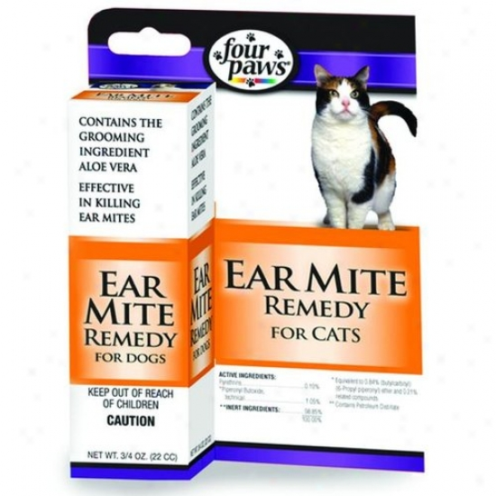 Four Paws 100202112/01732 Ear Mite Remedy Cats