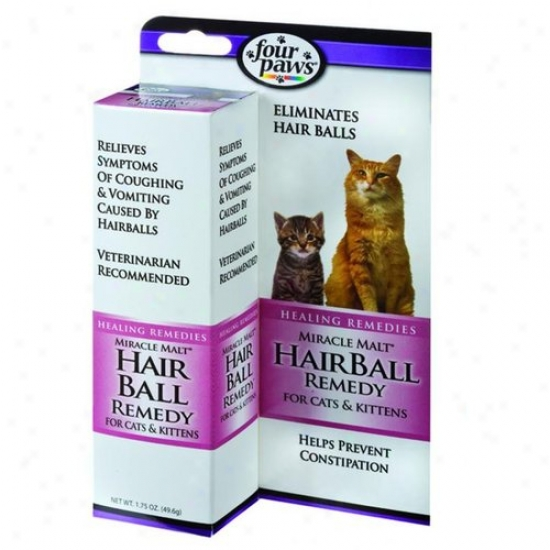 Four Paws 100203063/16500 Miracle Malt Hairball Remedy