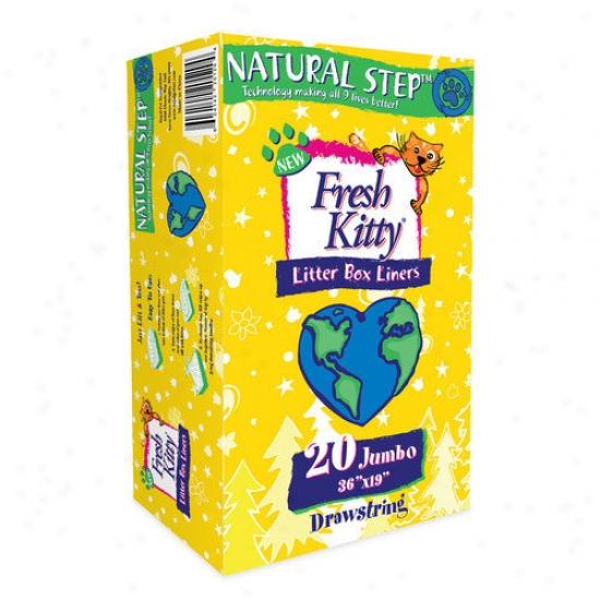 Fresh Kittu Drawztring Natural Foot~ Cat Litter Box Liiners