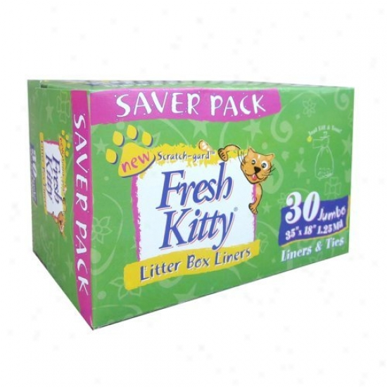 Fresh Kitty Jumbo Cat Litter Box Liners - 30 Count