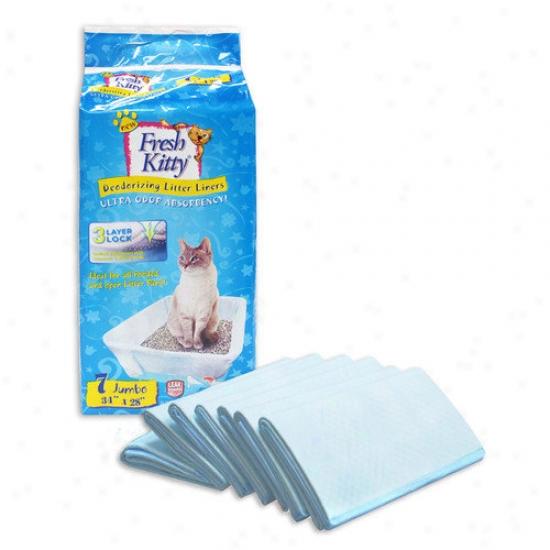 Fresh Kitty Jumbo Cat Litter Pad Liners (7 Pack)