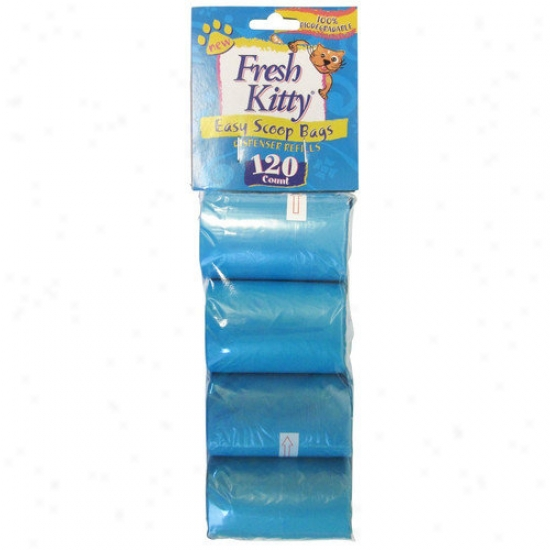 Fresh Kitty Litter Box Organizer Refill Cat Bags (120 Pack)