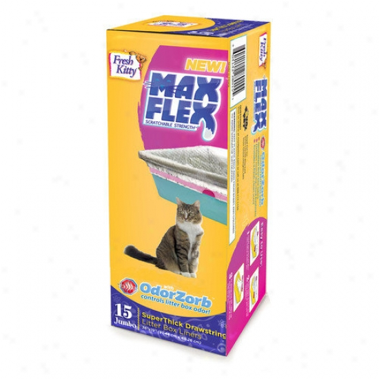 Fresh Kitth Max Flex Super Thick Cat Shreds Box Liners (15 Pack)